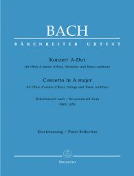 Concerto for Oboe d'Amore (Oboe) in A major (after BWV 1055) (Oboe & Piano)