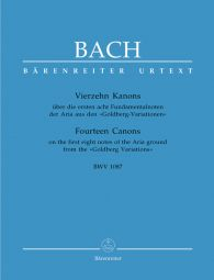 Fourteen Canons on the first eight notes of the Aria ground from the Goldberg Variations (BWV 1087)