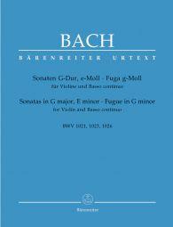 Sonatas in G major & E minor, Fugue in G minor (BWV 1021, 1023, 1026) (Violin & Piano)
