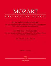 6 Notturni - Canzonettas (K.346, 436-439, 549) (Full Score)