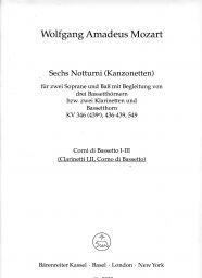 6 Notturni - Canzonettas (K.346, 436-439, 549) (Playing Score)