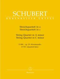String Quartet in A minor Op.29 D 804 (Rosamunde) & Quartet Movement in C minor D 703