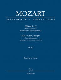 Mass in C major (K.317) (Coronation Mass) (Arrangement for female choir SMezA) Full score