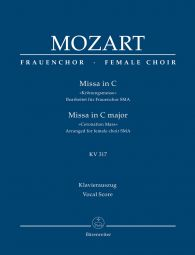 Mass in C major (K.317) (Coronation Mass) (Arrangement for female choir SMezA) Vocal Score