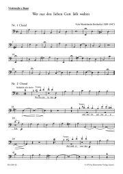 Wer nur den lieben Gott lässt walten (Cello/Bass)