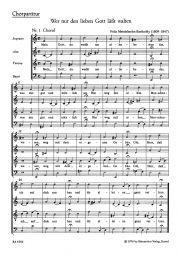 Wer nur den lieben Gott lässt walten (Choral Score)
