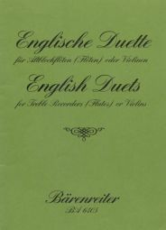 English Duets for Treble Recorders (Flutes) or Violins
