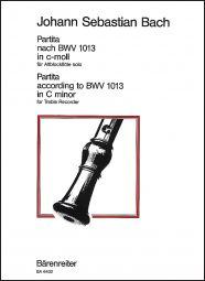 Partita for Solo Treble Recorder in C minor (original key A minor) (BWV 1013)