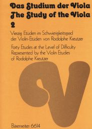 The Study of the Viola Book 2: 40 Moderately Difficult Studies