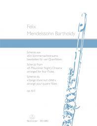 Scherzo from A Midsummer Night's Dream Op.61/1 arranged for four Flutes (Score & Parts)