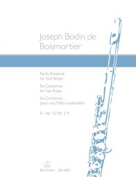 Six Concertos for five Flutes Op.15 Volume II (Score & Parts)