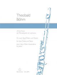 Trois Duos de Mendelssohn et Lachner Op.33 (Two Flutes and Piano)