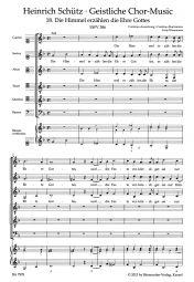 Die Himmel erzählen die Ehre Gottes SWV 386 No.18 from Geistliche Chor-Music
