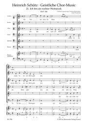 Ich bin ein rechter Weinstock SWV 389 No.21 from Geistliche Chor-Music