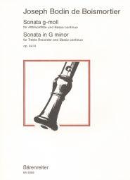 Sonata in G minor Op.44/4 for Treble Recorder & Basso continuo