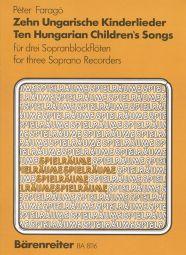 Ten Hungarian Children's Songs