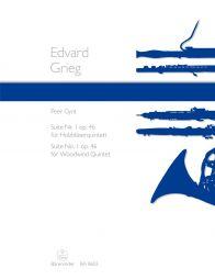 Peer Gynt Suite No.1 Op.46 arranged for Woodwind Quintet