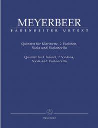 Quintet in E-flat major for Clarinet, two Violins, Viola & Violoncello (Score & Parts)