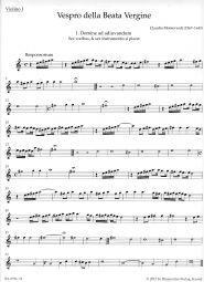 Vespers 1610, Vespro della Beata Vergine Violin I