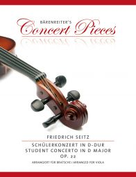 Concerto in G major Op.22 for Viola from the Violin Concerto in D major (Viola & Piano)
