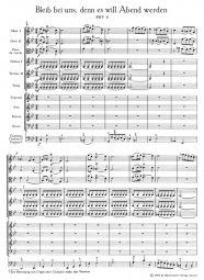 Cantata No.6: Bleib bei uns, denn es will Abend (BWV 6) (Full Score)