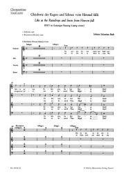 Cantata No.18: Gleichwie der Regen und Schnee vom Himmel fällt (BWV 18) (Choral Score)