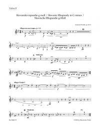 Slavonic Rhapsody No.2 in G minor Op.45 (Violin II)