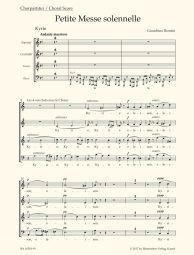 Petite Messe solennelle (Choral Score)