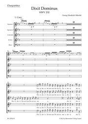 Dixit Dominus HWV 232 (Choral Score)