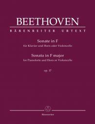 Sonata for Pianoforte and Horn or Violoncello in F major Op.17