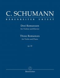 Three Romances for Violin & Piano Op.22