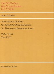 Six Minuets for Wind Instruments Book 2 Nos 4-6 (Playing Score)