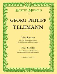 Four Sonatas for Treble Recorder and Basso continuo