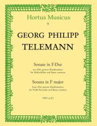 Sonata in F major for Treble Recorder & Basso continuo (TWV 41:F2)