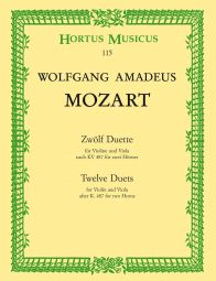 Twelve Duets for Violin and Viola after K.487 for two Horns (Playing Score)