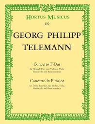 Concerto for Treble Recorder in F major (Full Score)