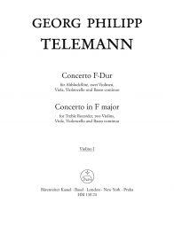 Concerto for Treble Recorder in F major (Violin I)