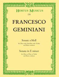 Sonata in E minor for Oboe or Flute or Violin and Basso continuo