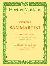 Concerto for Harpsichord No. 1 in A (Score & Parts)