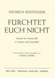 Fuerchtet Euch Nicht (Kantate) Full Score