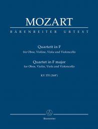 Quartet for Oboe, Violin, Viola and Violoncello in F major (K.370) (Study Score)