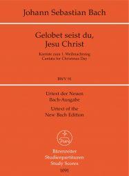 Cantata No.91 Gelobet seist du, Jesu Christ (BWV 91) (Study Score)